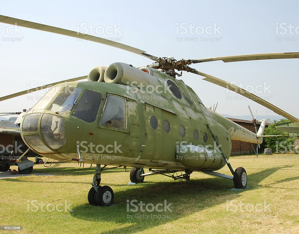 Old military helicopter royalty-free stock photo
