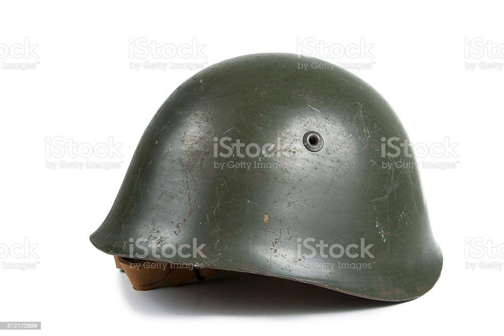 Old Military Helmet stock photo