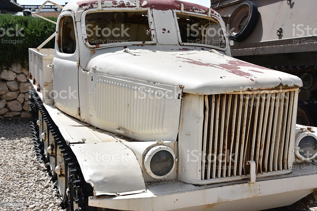 Old military Pick Up Truck stock photo