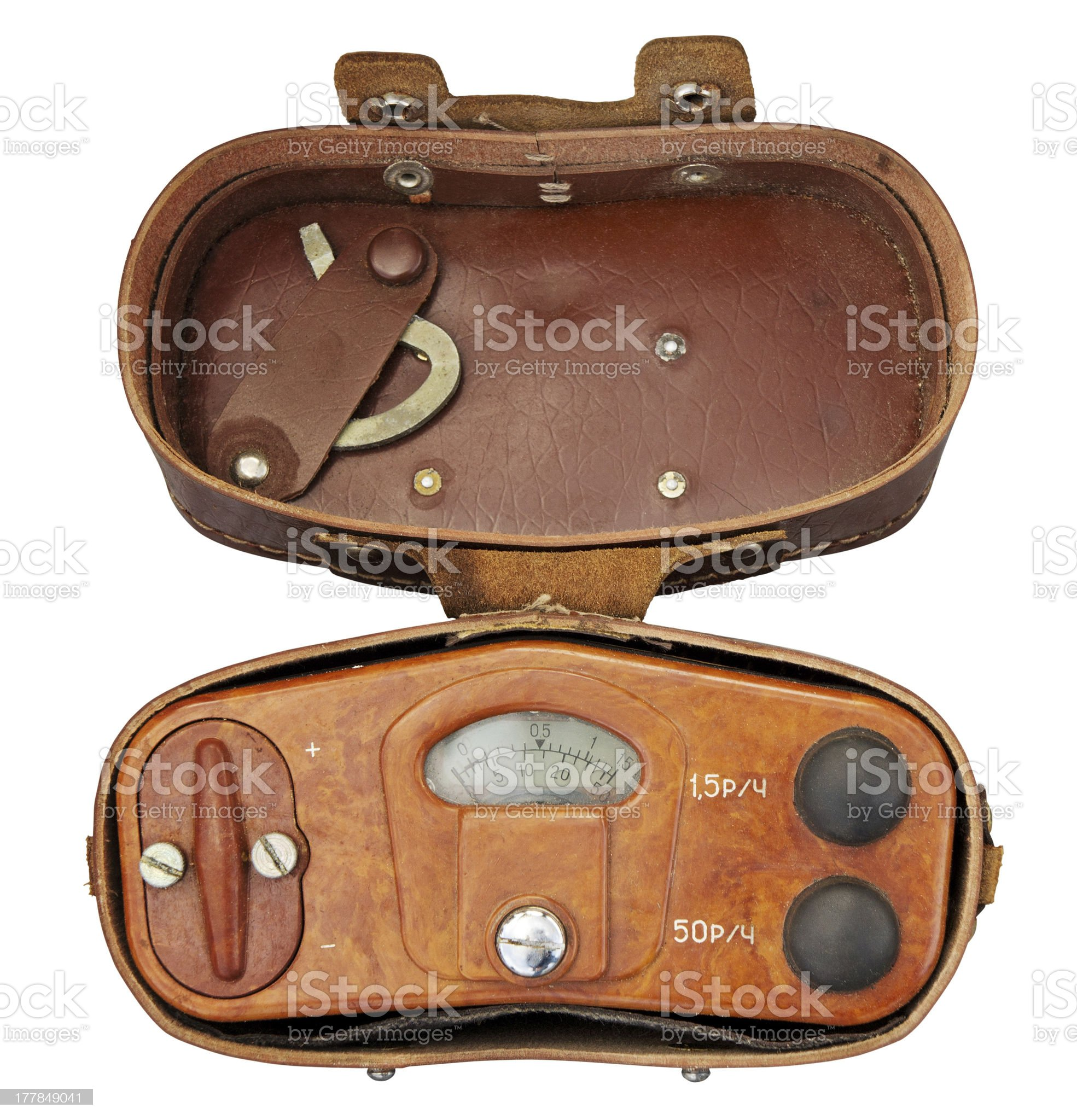 Old military radiation meter royalty-free stock photo