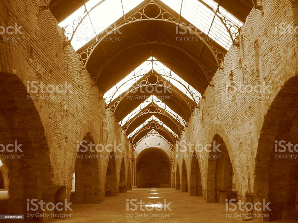 Old Military Shipyard, Seville, Spain royalty-free stock photo