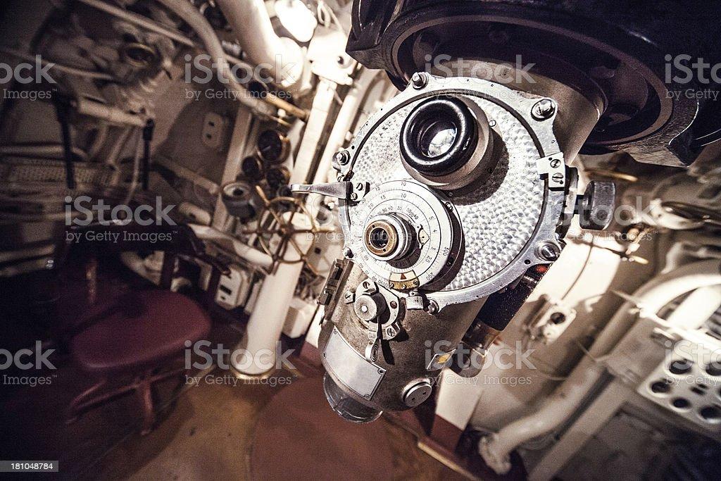 Old military submarine royalty-free stock photo