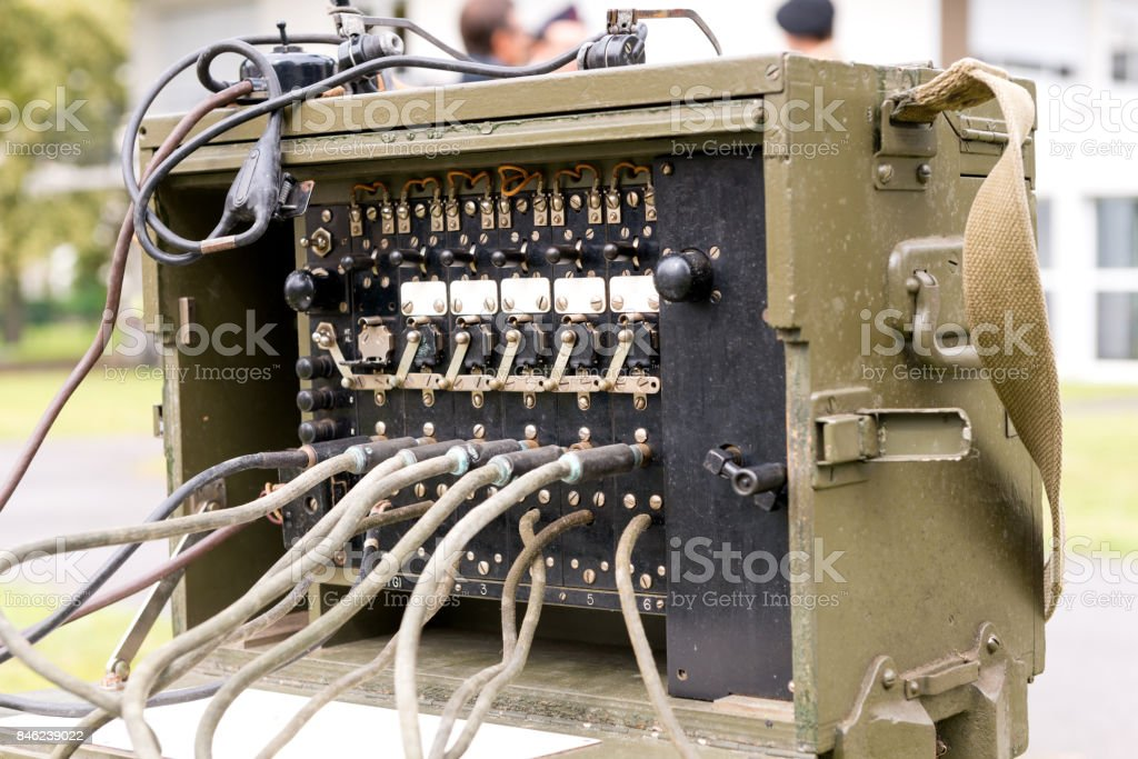 old military us army radio receiver transmitter stock photo