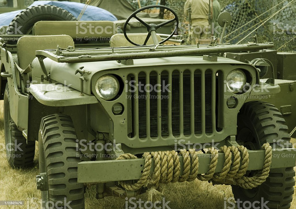 Old Military Vehicle stock photo