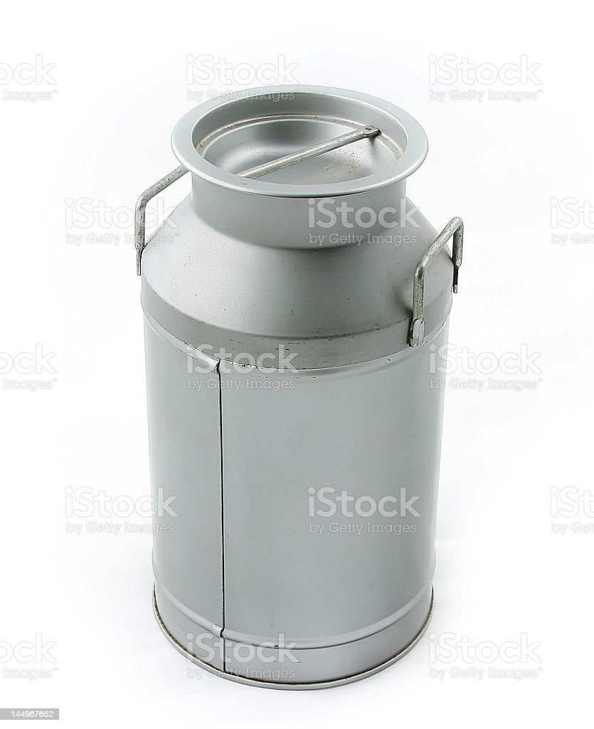 old milk can stock photo