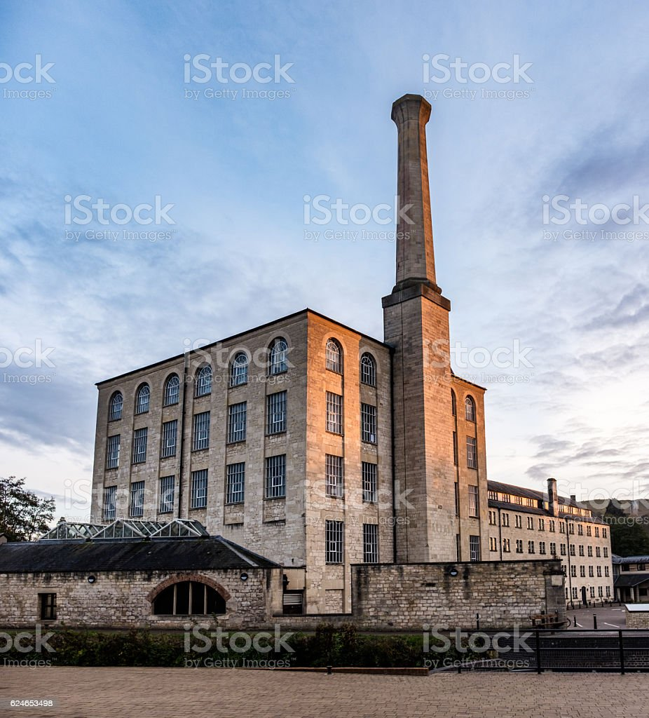 Old Mill Converted Into A Modern Office Building stock photo