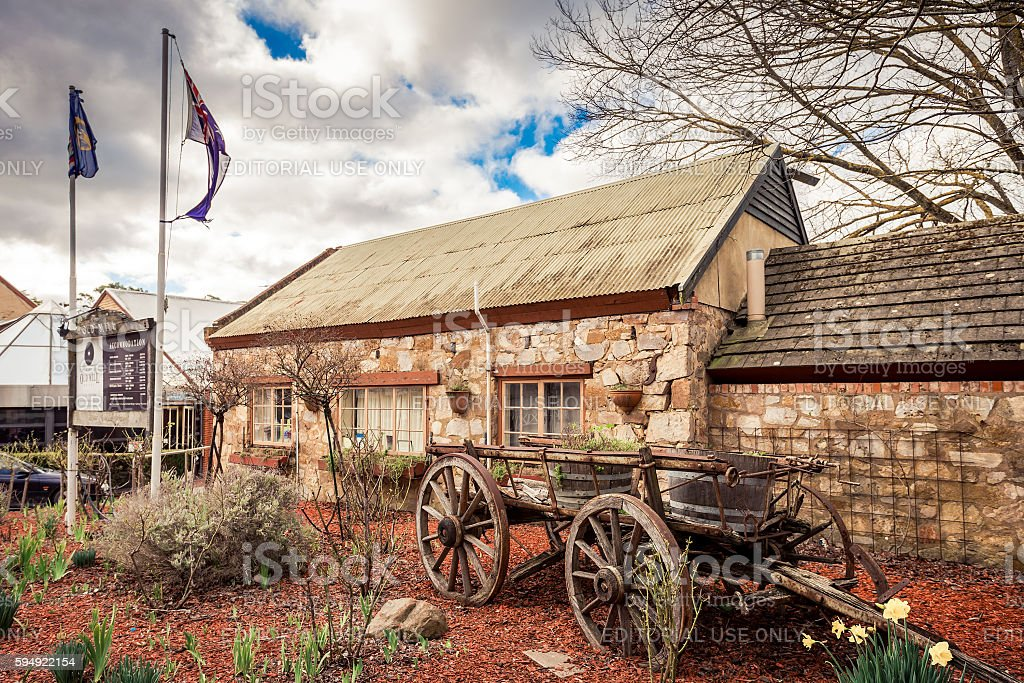 Old Mill Hotel in Hahndorf stock photo