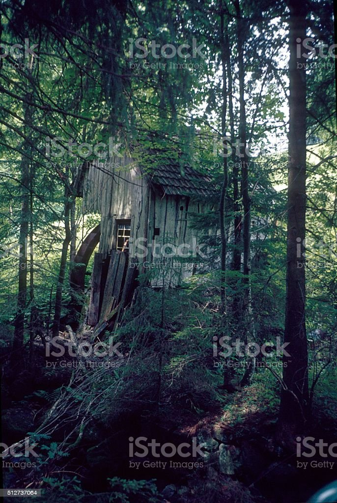 Old Mill in the Black Forest, Germany stock photo