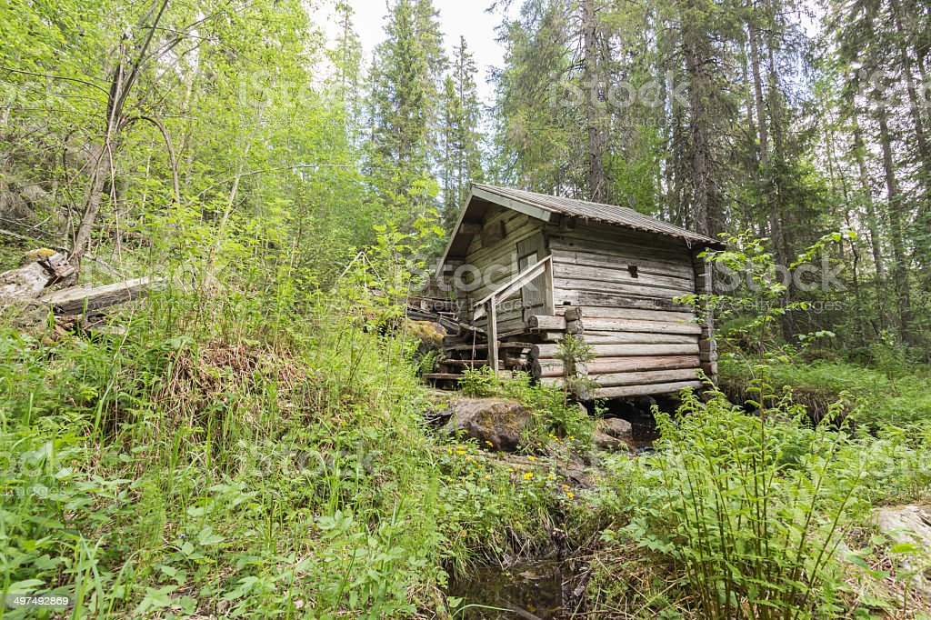 Old mill in the forest royalty-free stock photo