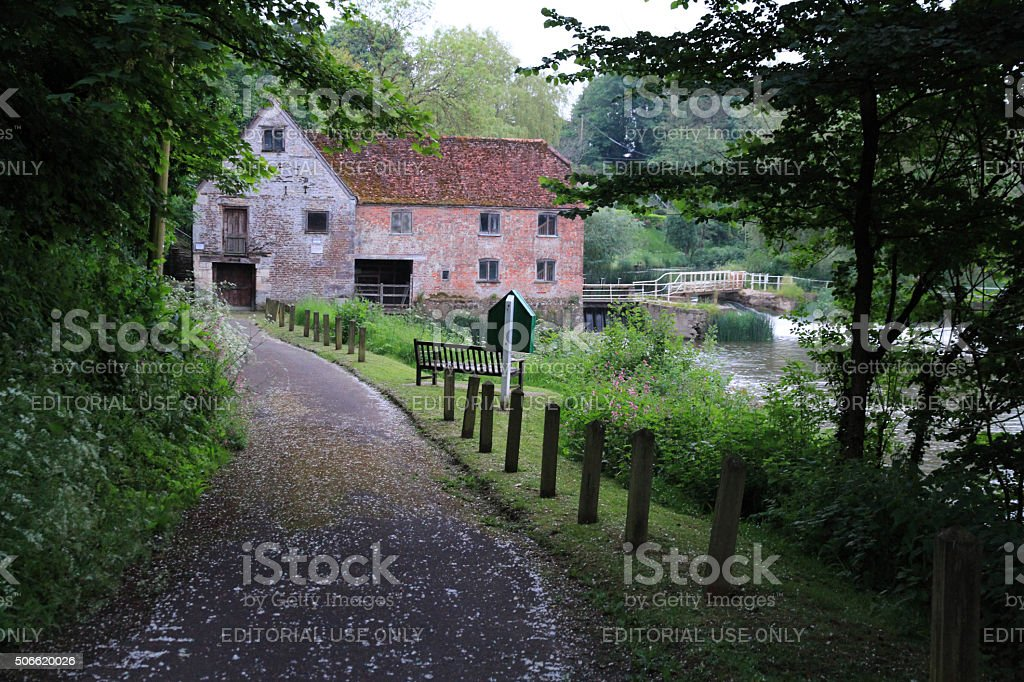 Old Mill in the UK stock photo