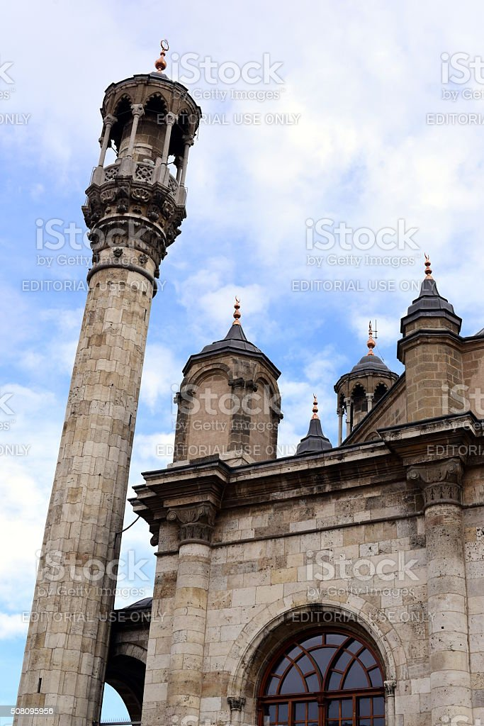 old minaret and the sky stock photo