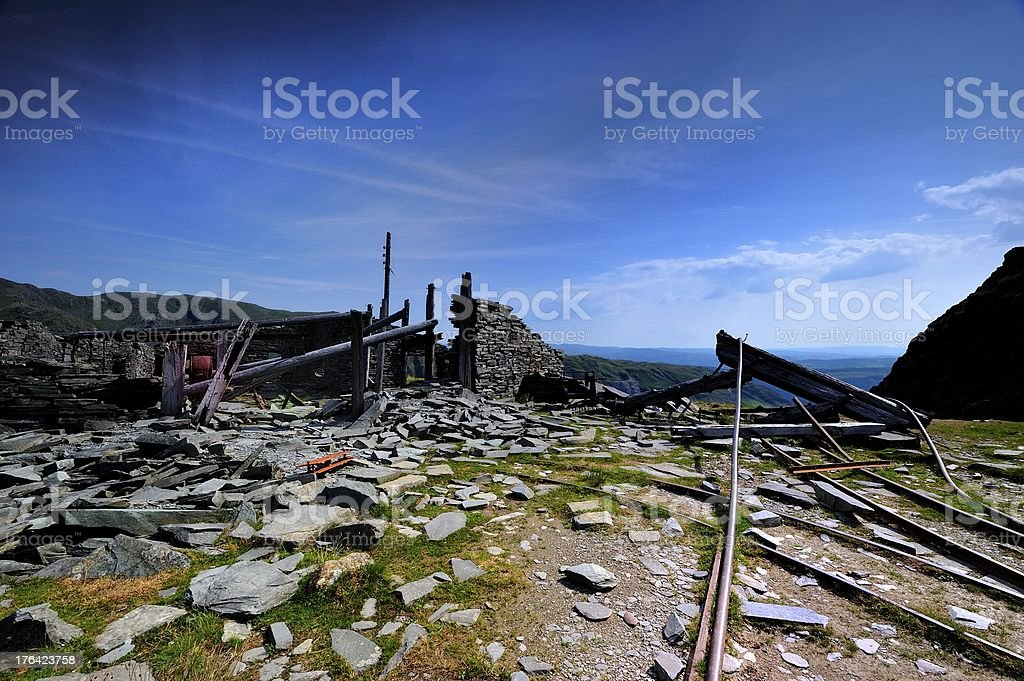 Old Mine Building royalty-free stock photo