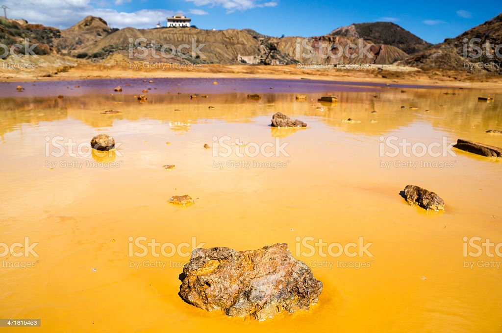 old mine in Mazarron, Murcia, Spain stock photo