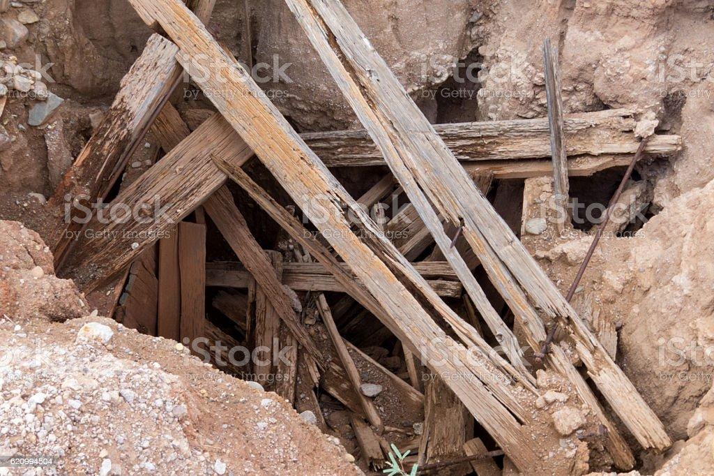 Old Mine Shaft stock photo