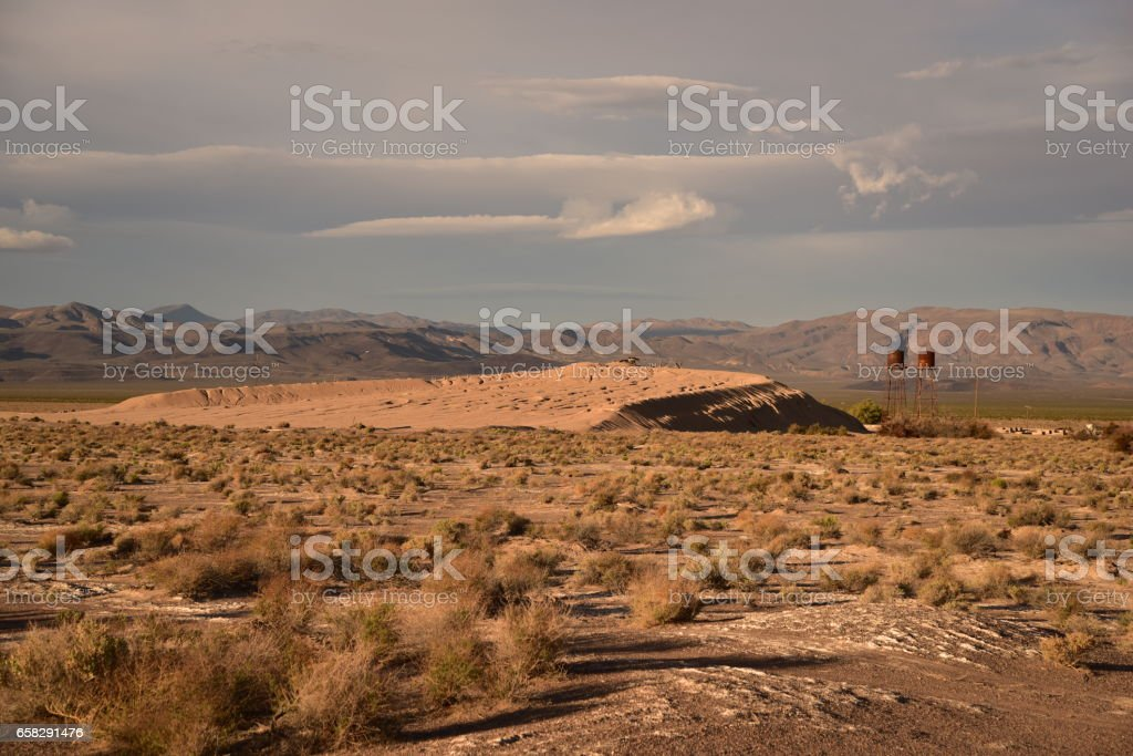 Old mining area near Death Valley Junction stock photo