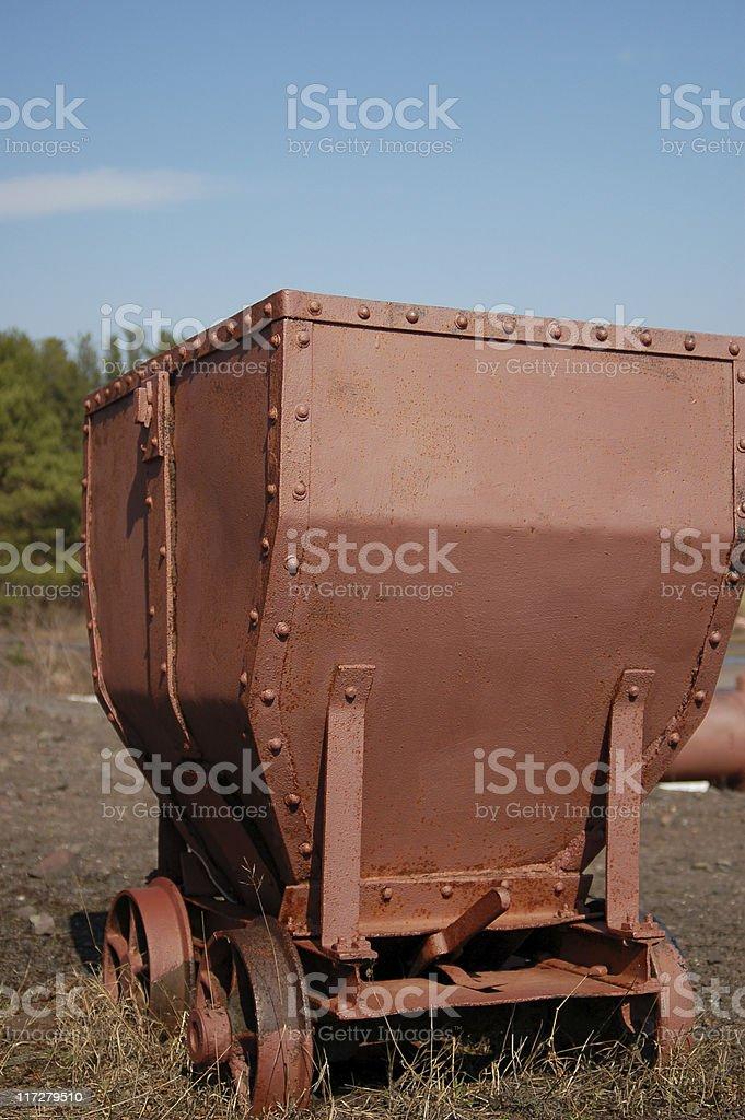 Old mining cart royalty-free stock photo