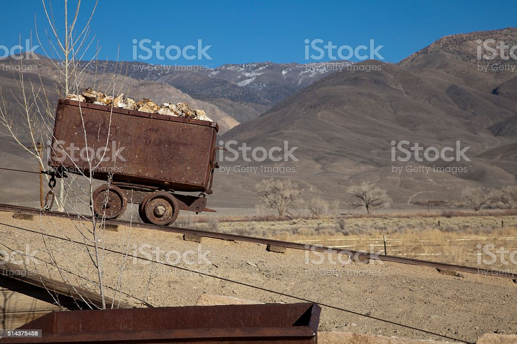 Old Mining Cart stock photo