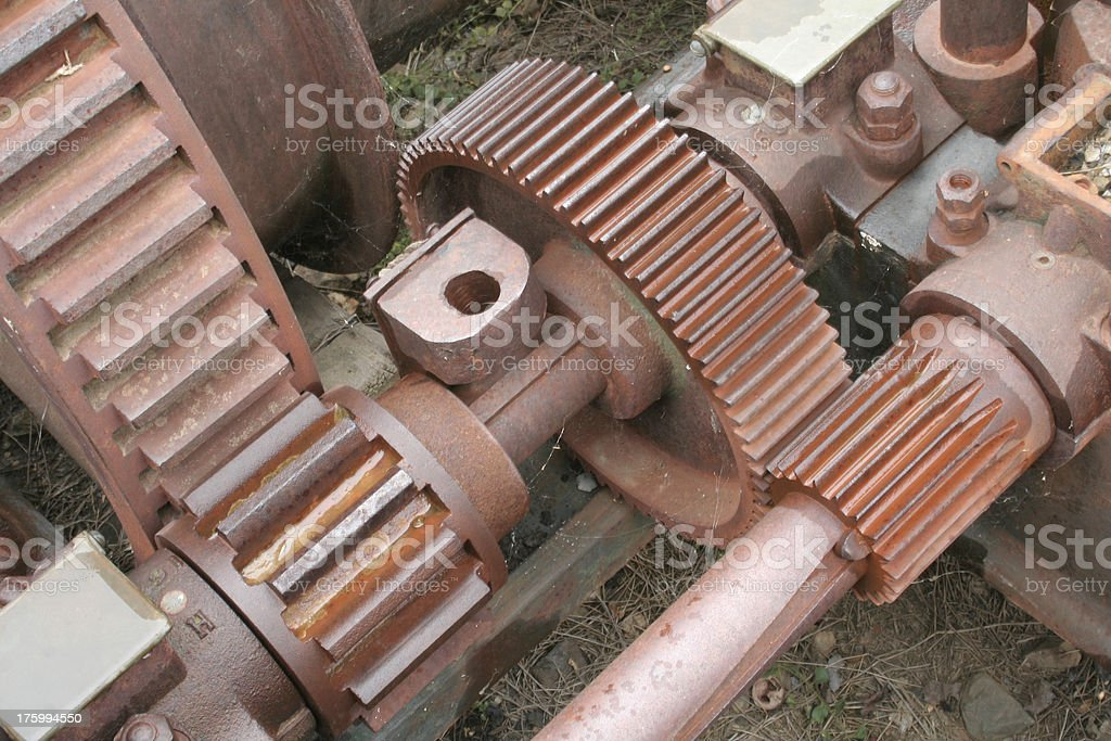 Old Mining Equipment - Gears royalty-free stock photo
