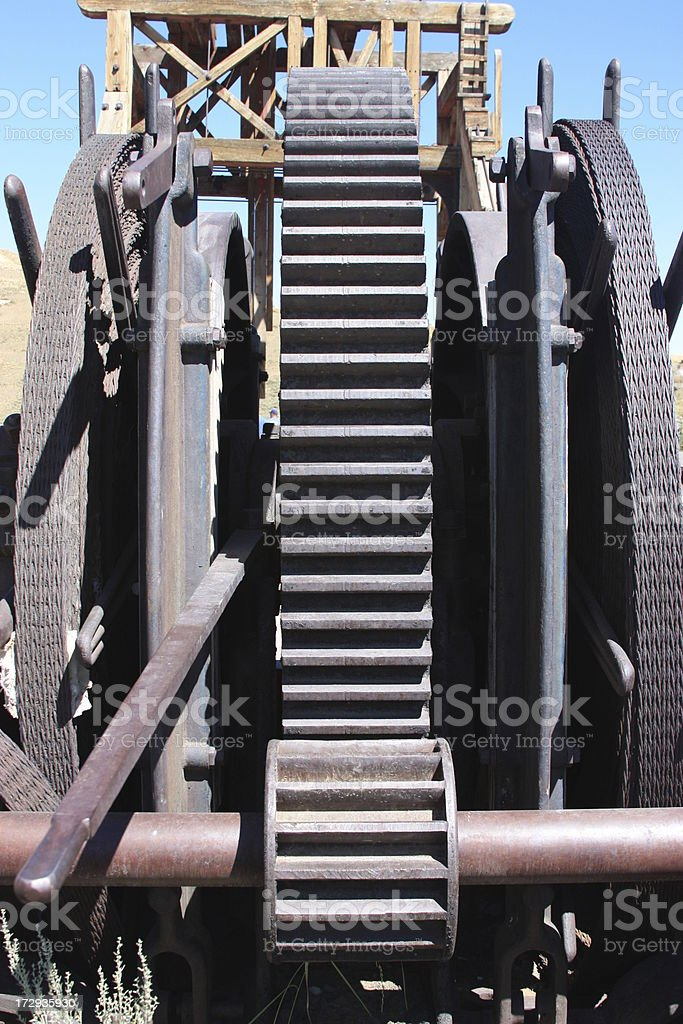 Old Mining Equipment royalty-free stock photo