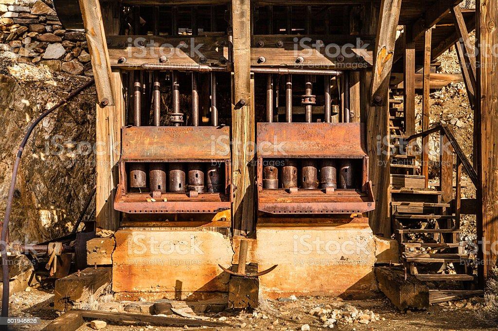 Old Mining Machinery, Lost Horse Mine, Joshua Tree National Park royalty-free stock photo