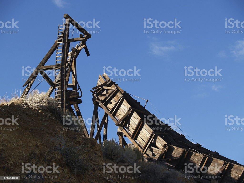 Old Mining Rig - Virginia City, Nevada stock photo