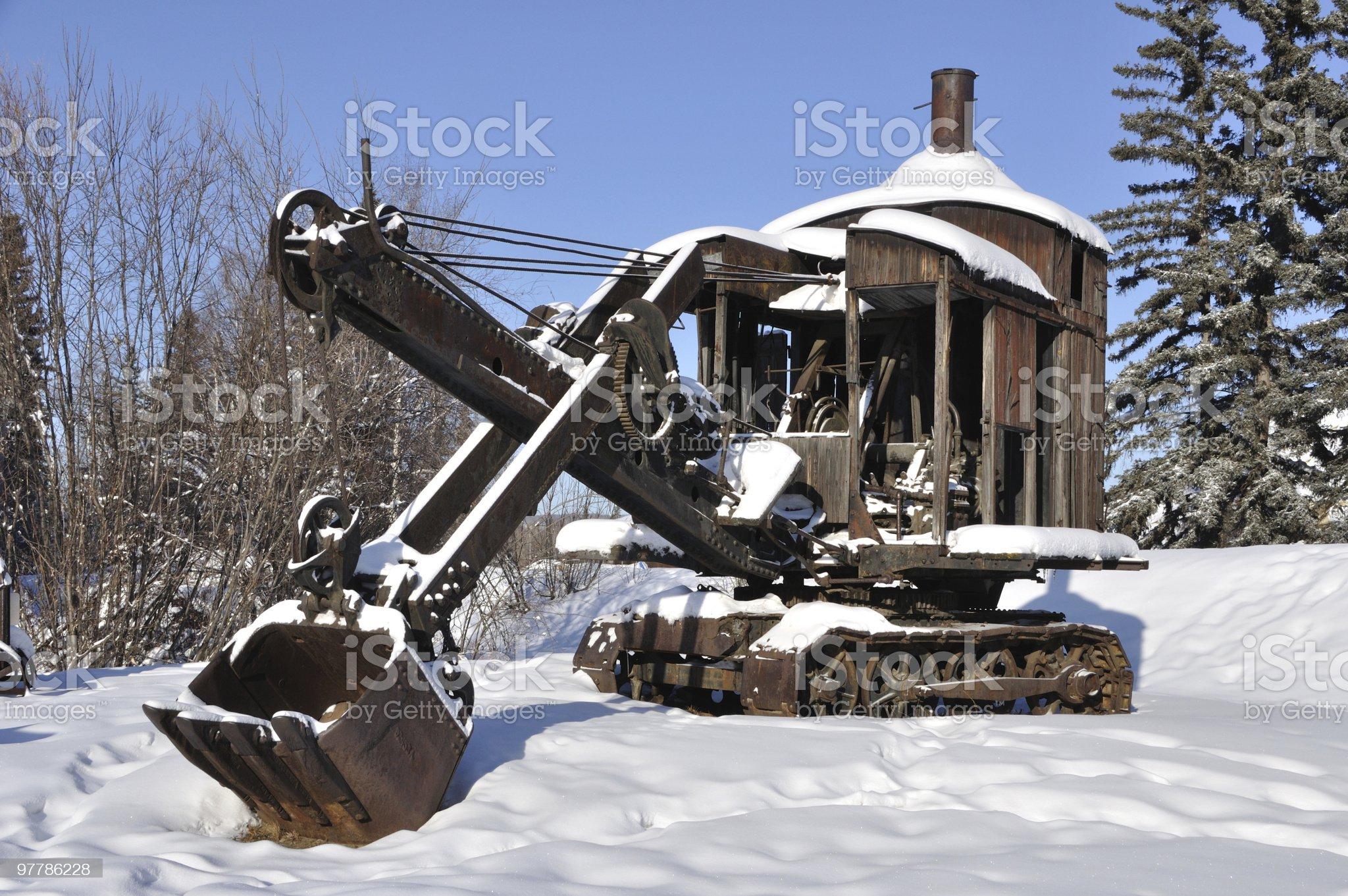 Old Mining Steam Shovel in Alaska royalty-free stock photo