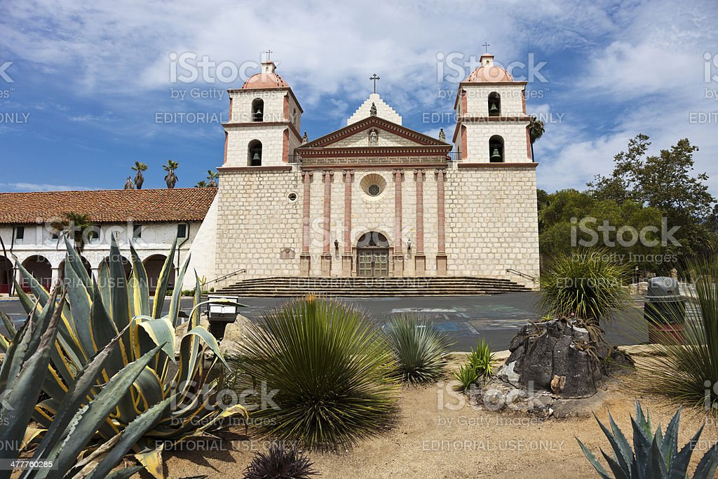 Old Mission Santa Barbara - Queen of Missions stock photo