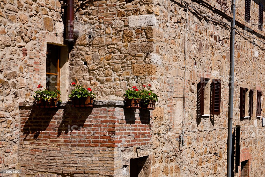 Old mmedieval building stock photo