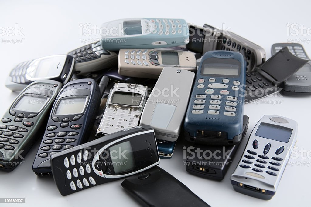 Old Mobile Phone. Color Image royalty-free stock photo