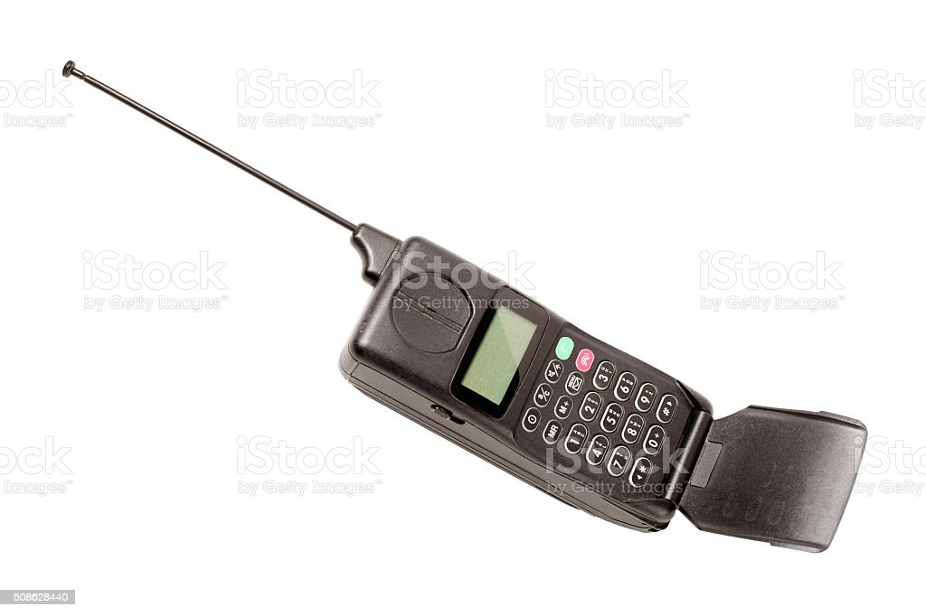 Old mobile phone stock photo