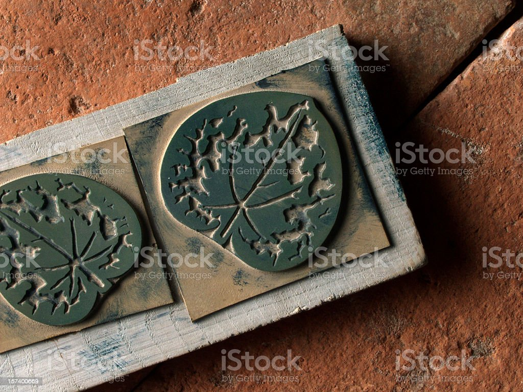 Old mold for tissue stock photo
