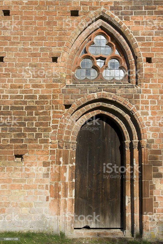 Old Monastery Door royalty-free stock photo