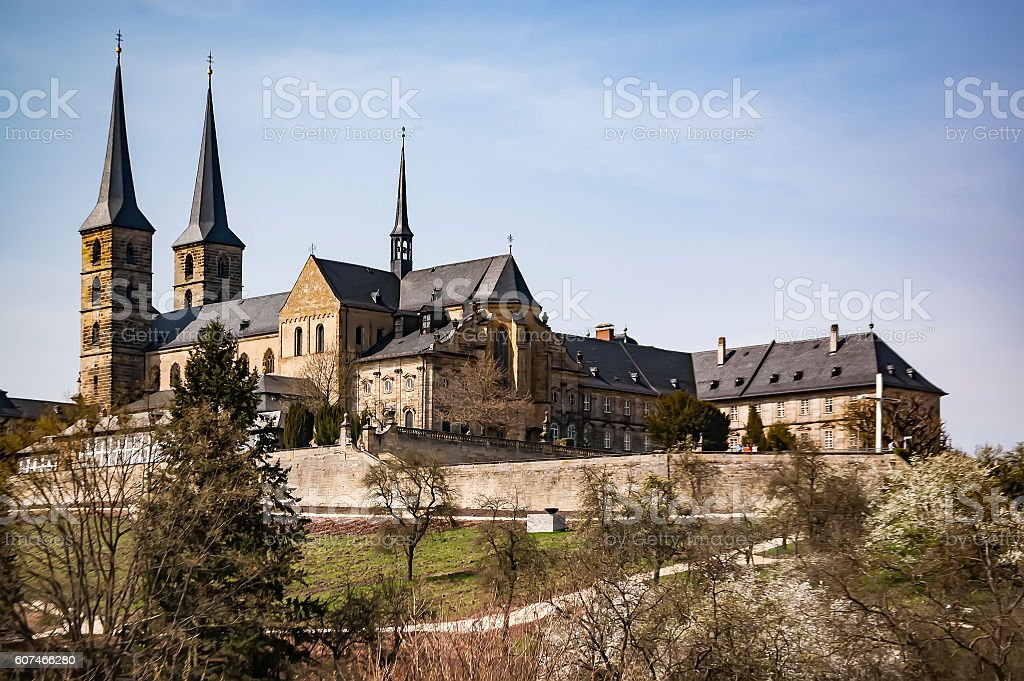 Old Monastery in Bamberg stock photo