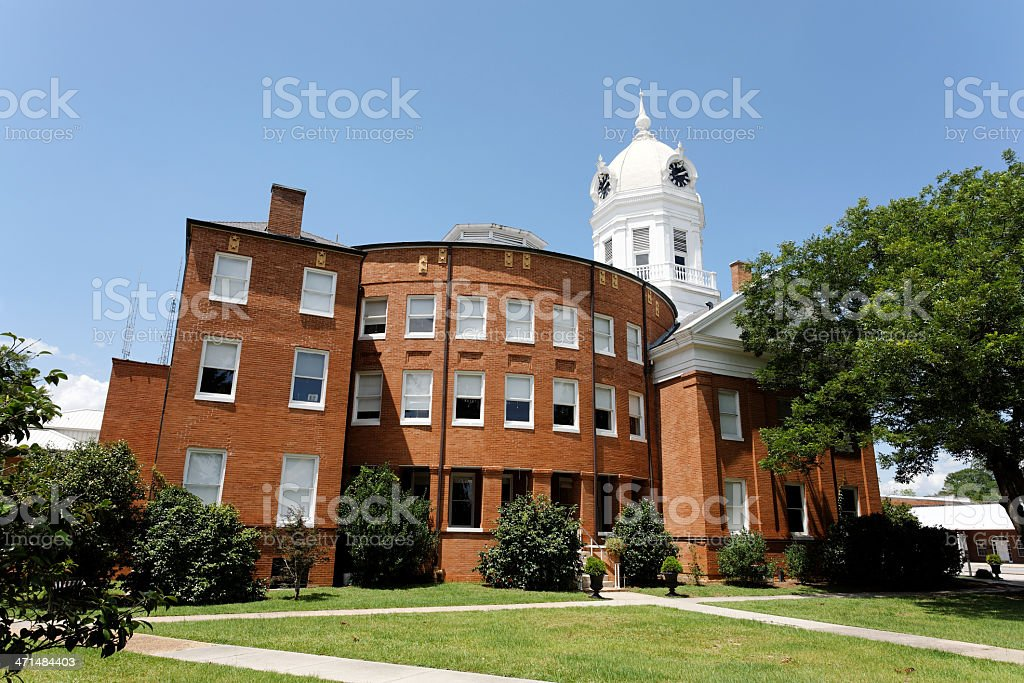 Old Monroe County Courthouse royalty-free stock photo