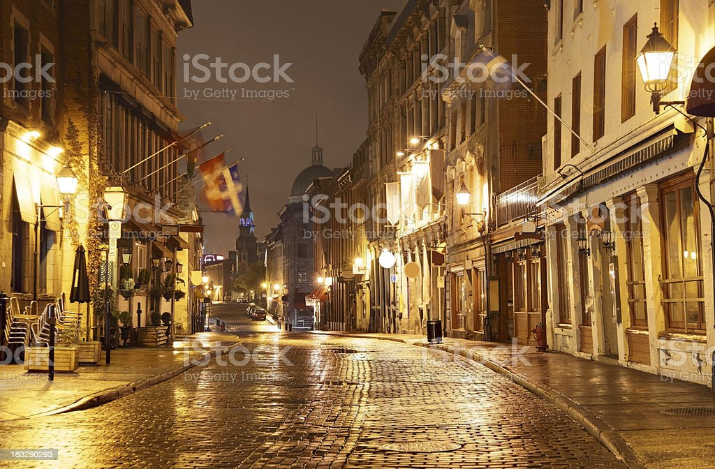 Old Montreal stock photo
