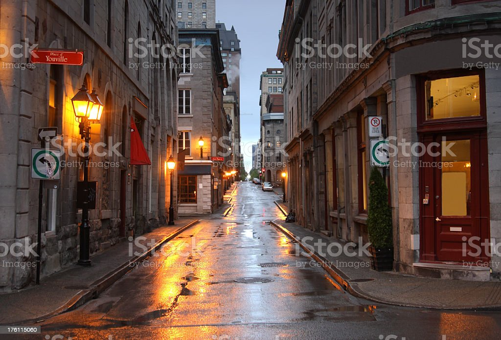 Old Montreal Quebec royalty-free stock photo