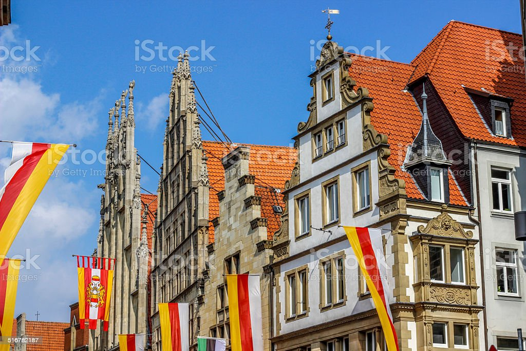 old monumental facades royalty-free stock photo