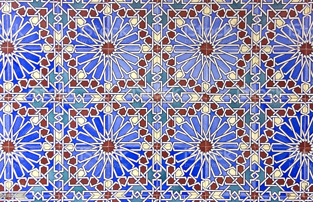 Old Moroccan Tiles stock photo