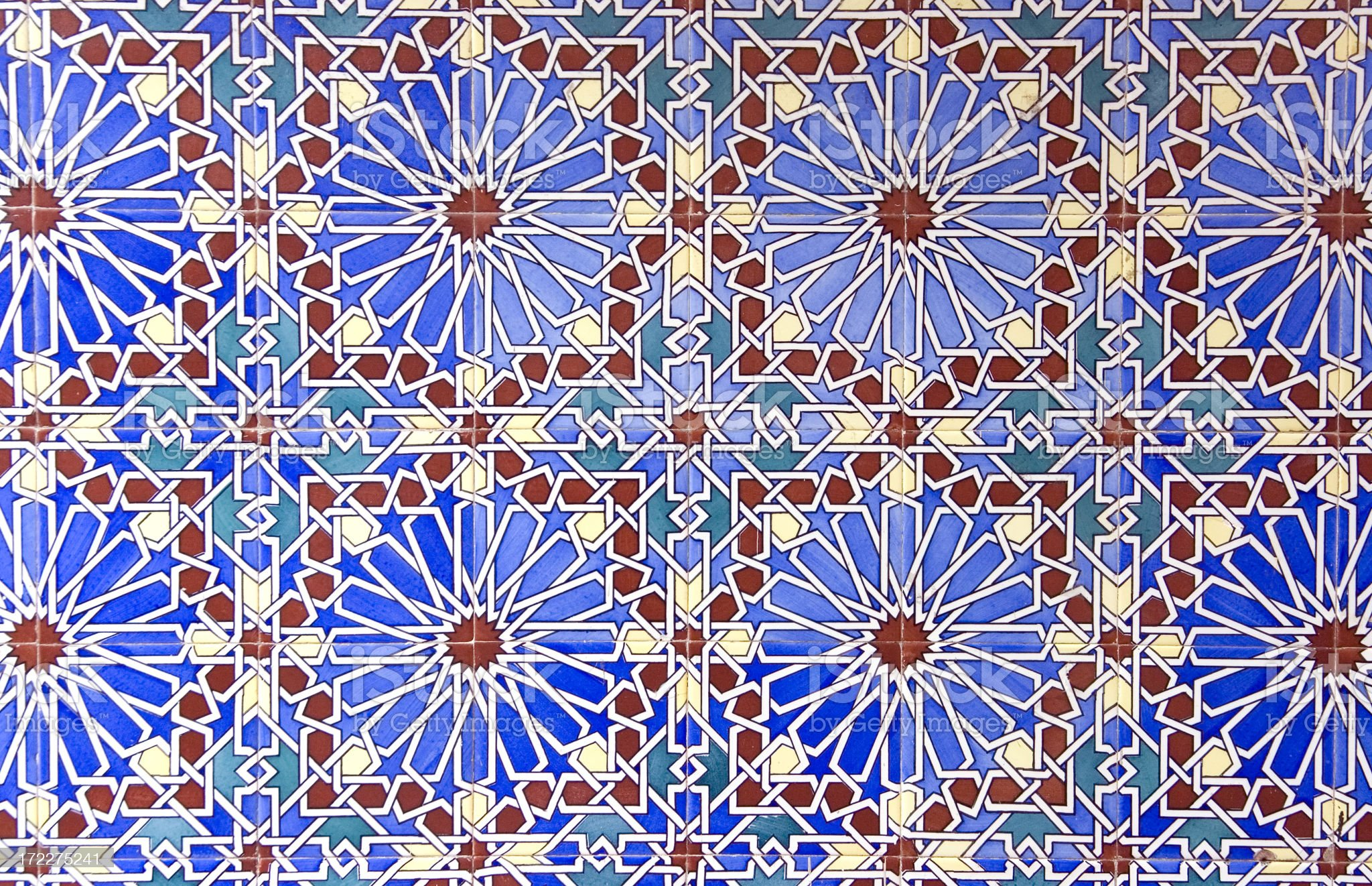 Old Moroccan Tiles royalty-free stock photo