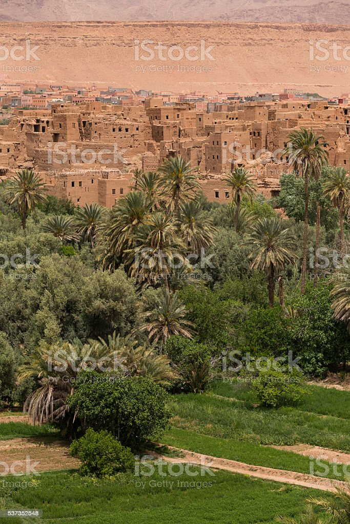 old Moroccan village stock photo