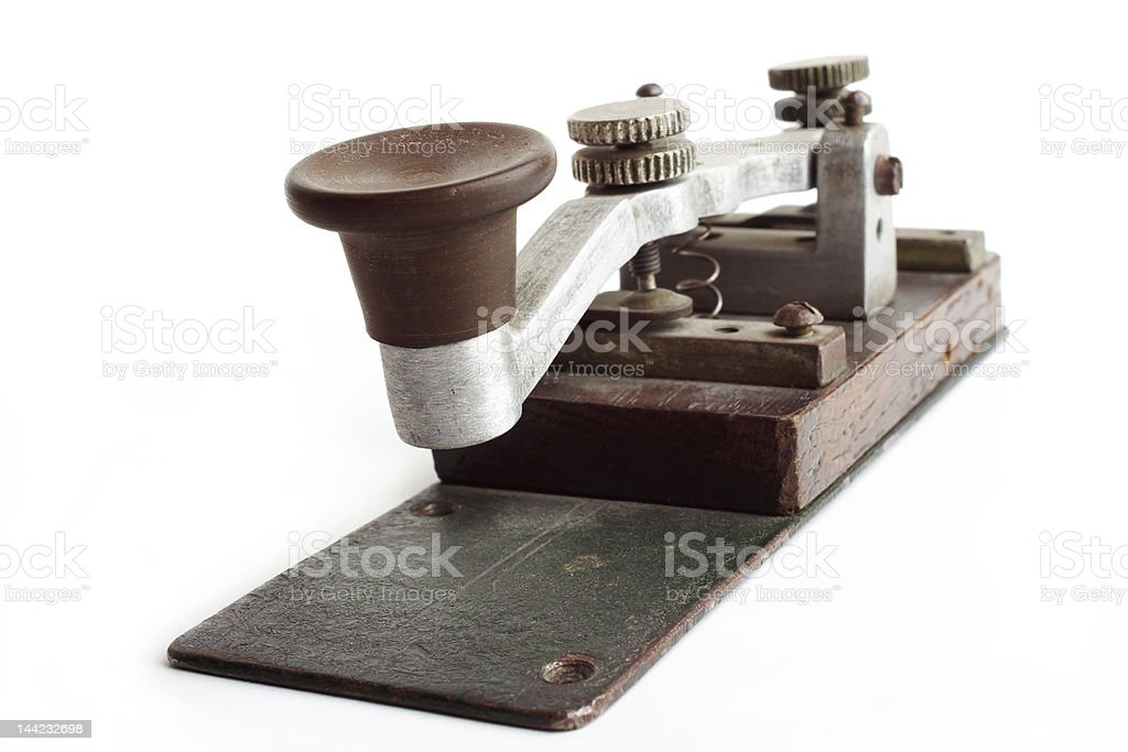 Old morse key royalty-free stock photo