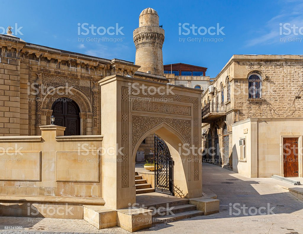 Old mosque in the fort in Baku.Azerbaijan stock photo