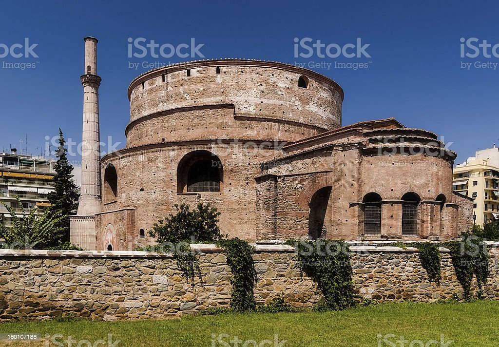 Old mosque of Rejep Pasha in Rhodes Town, Greece royalty-free stock photo