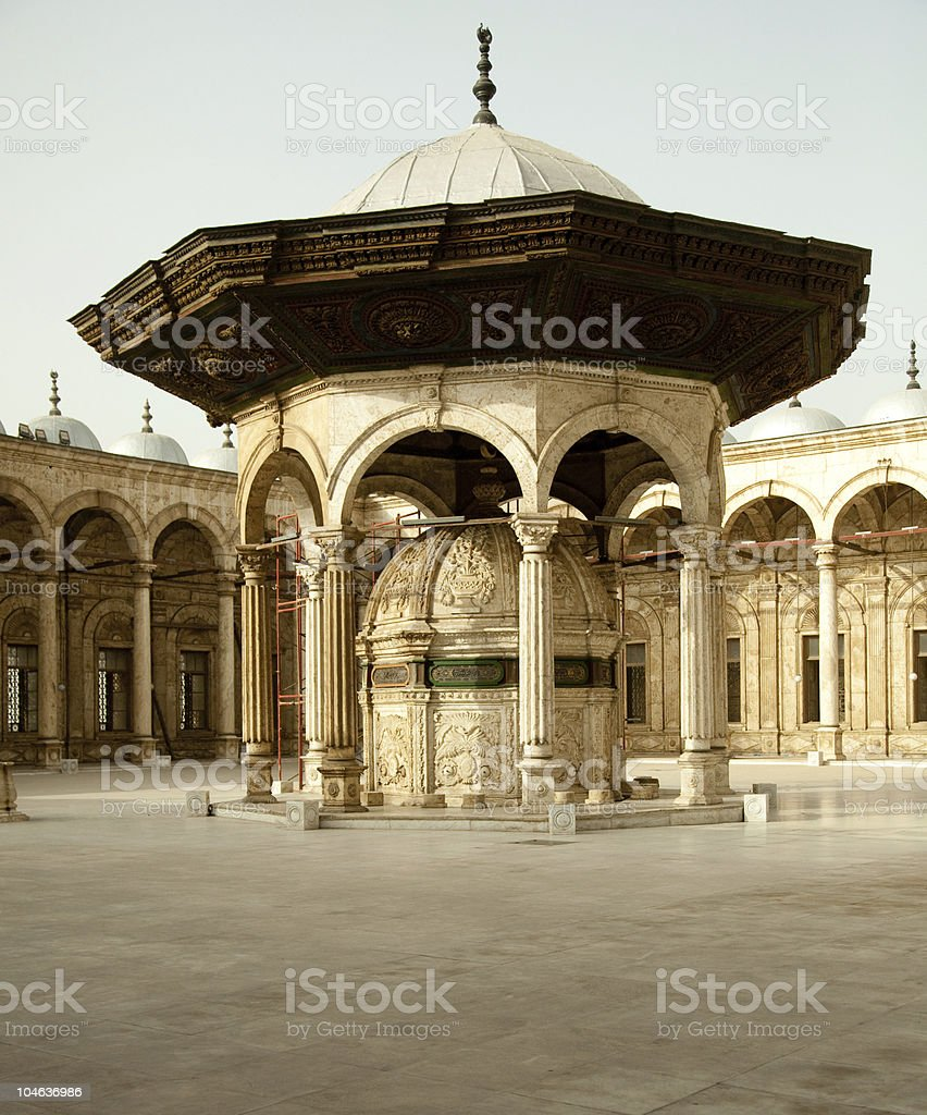 Old mosque the Citadel in Cairo royalty-free stock photo