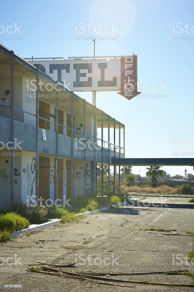 Old motel at sunrise royalty-free stock photo