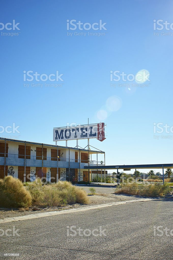 Old Motel royalty-free stock photo