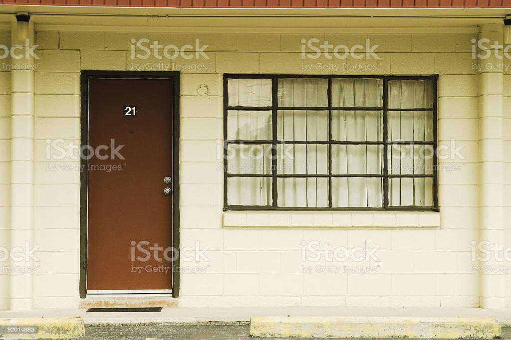 Old Motel Room stock photo