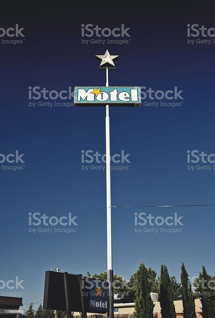 Old motel sign royalty-free stock photo