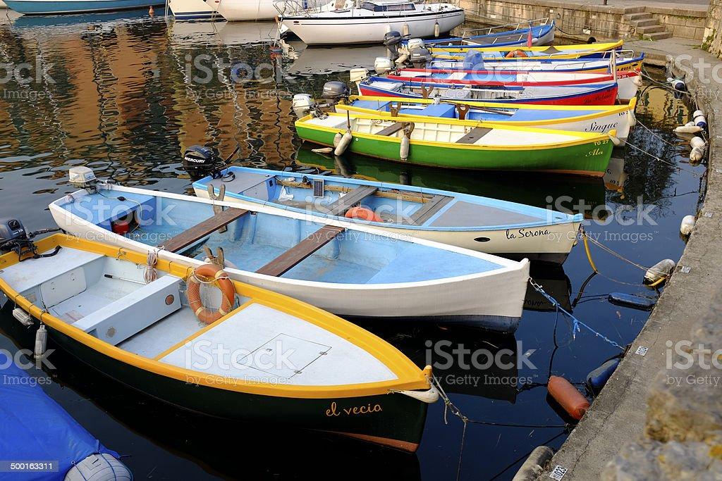 old motor boat royalty-free stock photo