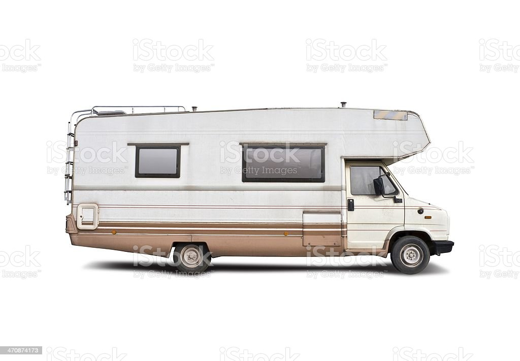 Old motor home royalty-free stock photo
